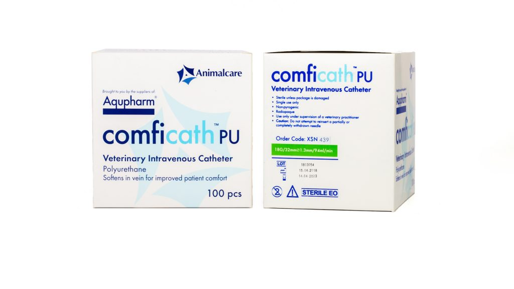 Aqupharm Comfi-Cath PU catheter 18g x 32mm