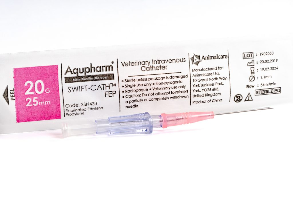 Aqupharm Swift-Cath FEP catheter 20g x 25mm