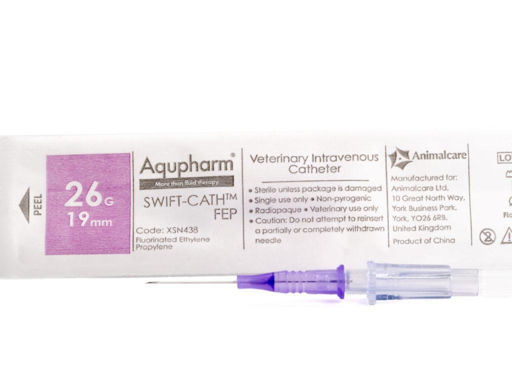 Aqupharm Swift-Cath FEP catheter 26g x 19mm